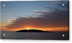Acrylic Print featuring the photograph Variations Of Sunsets At Gulf Of Bothnia 1 by Jouko Lehto