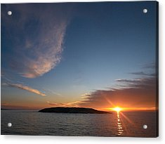 Acrylic Print featuring the photograph Variations Of Sunsets At Gulf Of Bothnia 2 by Jouko Lehto