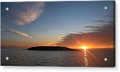 Acrylic Print featuring the photograph Variations Of Sunsets At Gulf Of Bothnia 3 by Jouko Lehto
