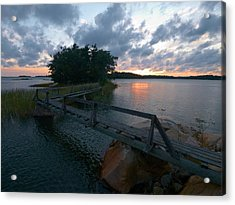 Acrylic Print featuring the photograph Variations Of Sunsets At Gulf Of Bothnia 6 by Jouko Lehto
