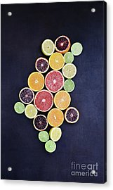 Acrylic Print featuring the photograph Variety Of Citrus Fruits by Stephanie Frey