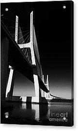 Vasco Da Gama Bridge Lisbon 4 Acrylic Print by Rudi Prott