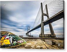 Vasco Da Gama Bridge - Lisbon, Portugal - Architecture Photography Acrylic Print