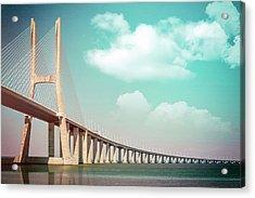 Vasco Da Gama Bridge Lisbon Portugal  Acrylic Print