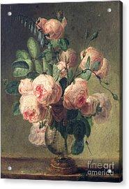 Vase Of Flowers Acrylic Print by Pierre Joseph Redoute