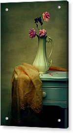 Vase Of Pink Roses Acrylic Print