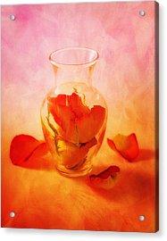 Vase Of Roses Still Life Acrylic Print by Tom Mc Nemar