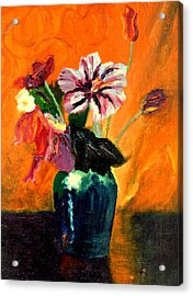 Vase With Flowers Acrylic Print by Henryk Gorecki