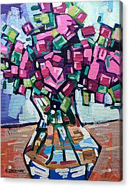 Vase With Roses Acrylic Print