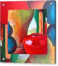 Vases Acrylic Print by Muriel Dolemieux