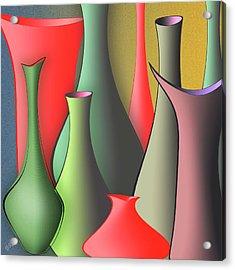 Vases Still Life Acrylic Print by Ben and Raisa Gertsberg