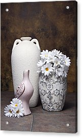 Vases With Daisies II Acrylic Print