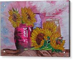 Vases With Flowers Acrylic Print by John Vandebrooke