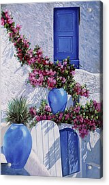 Vasi Blu Acrylic Print by Guido Borelli