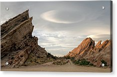 Vasquez Rocks Late Afternoon Acrylic Print by Michael Hope