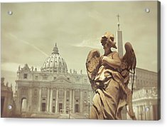 Vatican Angel Acrylic Print by JAMART Photography