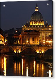 Vatican At Night Acrylic Print by Don Wolf