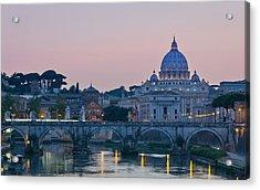 Vatican City At Sunset Acrylic Print