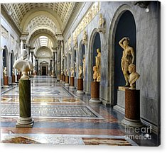 Vatican Museums Interiors Acrylic Print by Stefano Senise