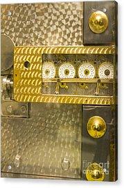 Vault Door Timing Device Acrylic Print by Adam Crowley