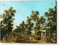 Vauxhall Gardens The Grand Walk Acrylic Print by Canaletto
