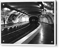 Vavin Station Paris Metro Acrylic Print by Gordon Lukesh