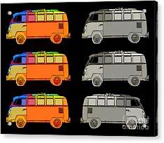 Vdub Surfer Bus Series Acrylic Print