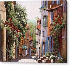 vecchia Cagnes Acrylic Print by Guido Borelli