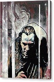 Vedder - Black Acrylic Print by Bobby Zeik