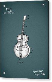 Vega Guitar Patent 1949 Acrylic Print