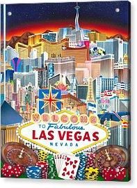 Vegapolis Acrylic Print by Brett Sauce