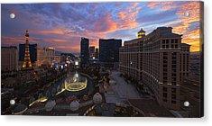 Vegas By Night Acrylic Print by Chad Dutson