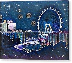 Vegas High Rollin Starry Nite Acrylic Print