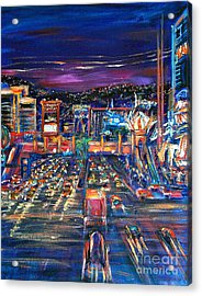 Vegas Lights Acrylic Print