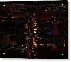 Vegas Strip Acrylic Print by D R TeesT