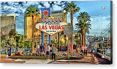 Acrylic Print featuring the photograph Vegasstrong by Michael Rogers