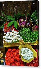 Acrylic Print featuring the photograph Vegetables In Florence by Harry Spitz