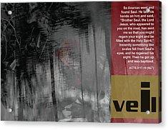 Veil A Acrylic Print by Affini Woodley