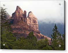 Acrylic Print featuring the photograph Veiled In Clouds by Phyllis Denton