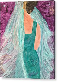 Veiled In Teal Acrylic Print