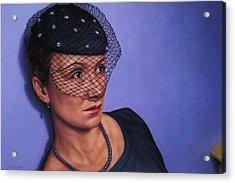 Veiled Acrylic Print by James W Johnson