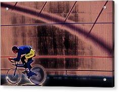 Velo Cyclist Acrylic Print