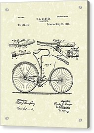 Velocipede 1890 Patent Art Acrylic Print by Prior Art Design