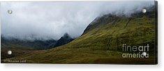 Velvet Hills In The Mist Acrylic Print
