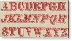 Velvet Letter  Acrylic Print