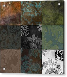 Velvet Patchwork Acrylic Print by Mindy Sommers