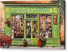 Vendita Di Orologi A Dondolo Acrylic Print by Guido Borelli