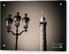 Vendome Column. Paris. France. Acrylic Print by Bernard Jaubert