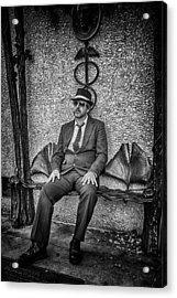 Vendredi Noir Acrylic Print by John Haldane
