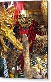 Venetian Animal Masks Acrylic Print by Mindy Newman